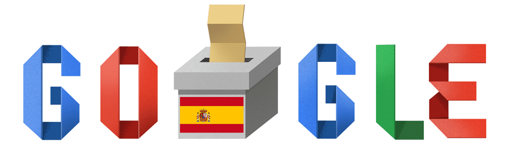 Logo Google pour les élections en Espagne